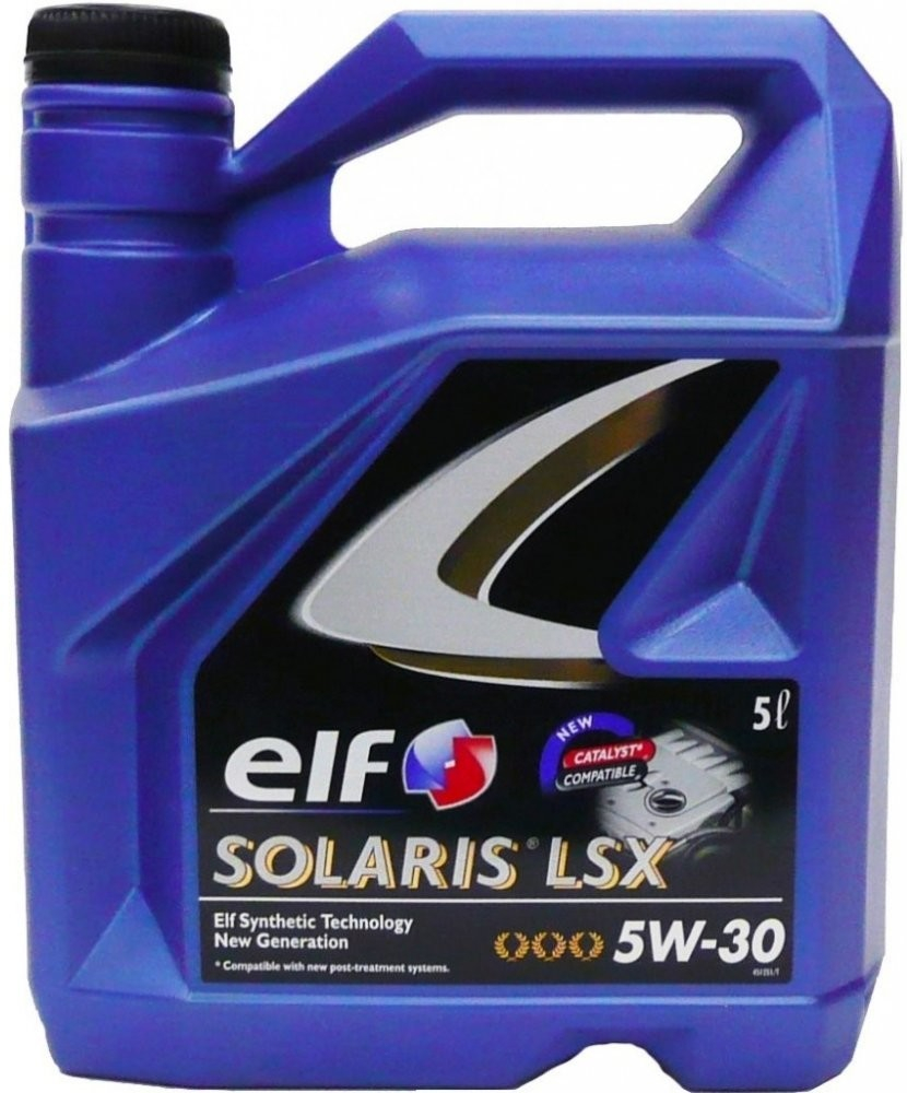 Моторно масло ELF SOLARIS LSX 5W-30 - 5 литра
